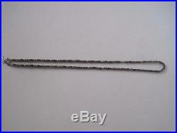 Old Pawn Navajo Sterling Silver Bench made Bead pearls Necklace 17grams