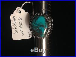 One of a kind, Arizona Bisbee Turquoise, hand made Men's Ring