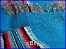 Ortega Chimayo Navajo Hand Made Native American Woven Wool Table Blanket 35X70