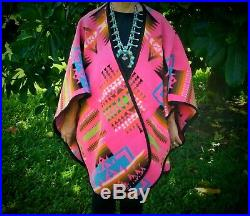 PENDLETON Beaver State Native American Wool Blanket PONCHO CAPE Made in USA
