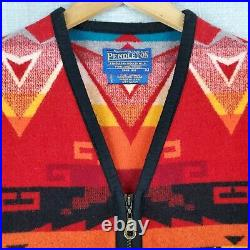 PENDLETON Large USA Made Mens High Grade Western Wear Aztec Southwest Wool Vest