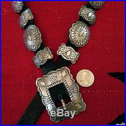 RARE Vintage Navajo John Delvin VERY WELL MADE Sterling Concho Belt Pawn 253g