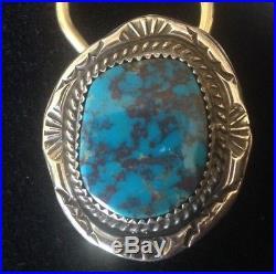 Rare Arizona Bisbee Turquoise, hand made Key Ring