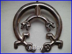 Rare Navajo Made Yei Bei Chi Naja Pendant Sandcast Sterling Silver Larger 2x2