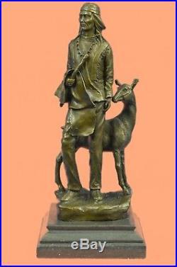 Rare Sculpture Native American Chief Spiritually Real Hand Made Figurine Sale Br