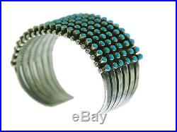 Ray Betsoi, Bracelet, 6 Row, Kingman Turquoise, 126 Stones, Navajo Made