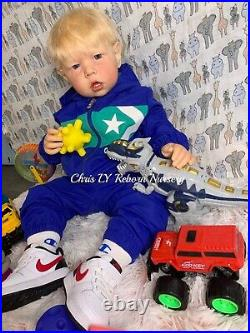 Reborn Baby Doll Toddler Liam By Bonnie Brown Made By Chris LY. Its A Boy