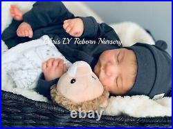 Reborn baby doll Levi by Bonnie Brown made by Chris LY. 19 Inches