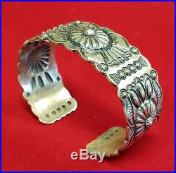Repoussee' Metal Work Native American Made Bracelet