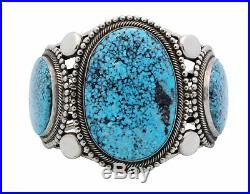 Rick Martinez, Bracelet, Kingman Turquoise, Big, Silver, Navajo made, 8
