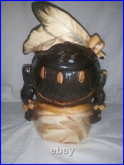 Rick Wisecarver Native American cookie jar Very Rare only 10 made