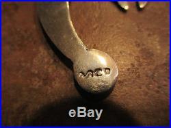 SPLENDID NAVAJO Graduated Sterling Silver NAJA Bench Made Bead Necklace