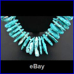 San Felipe Indian Gem Grade ROYSTON TURQUOISE CHIPS Necklace Native Made in USA