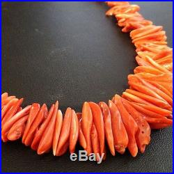 San Felipe Indian Orange SPINY SHELL BEADS NECKLACE Native American Made in USA