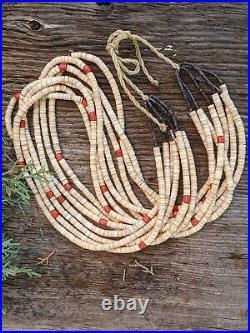 Santo Domingo Kewa 7 Strands Heishi Necklace Native American Jewelry Hand Made