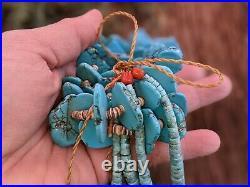 Santo Domingo Kewa Jacla Turquoise Necklace Native American Jewelry Hand Made