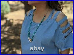 Santo Domingo Kewa Natural Turquoise Necklace Native American Jewelry Hand Made