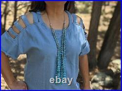 Santo Domingo Kewa Turquoise Necklace Native American Jewelry Hand Made