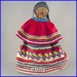 Seminole Indian Doll Cloth-Wrapped Palmetto Fiber Husk Made by Seminole Tribe23