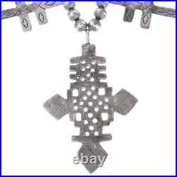 Silver Cross Native American Made Squash Blossom