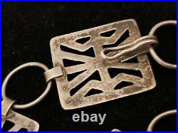 Silver Navajo Sand Cast Concho Belt Buckle Native Made South West USA 31