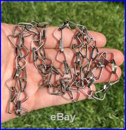 Spectacular Large Vintage Old Pawn Hand made Navajo Sterling Silver Chain 34