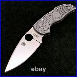 Spyderco Native C41PGY5 FRN Plain Edge Knife Maxamet steel American Made