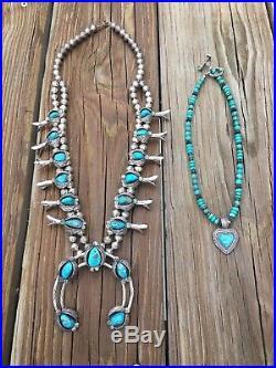 Squash Blossom Necklace made by real Navajo Indians. Vintage AZ Navajo real