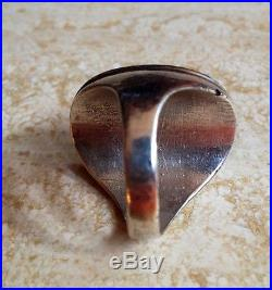 Sterling Silver Authentic Native American Hand-Made RingsLot Of 233.5 Grams