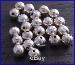Sterling Silver Bench Made Beads 8mm (pack of 100 beads) DB4B