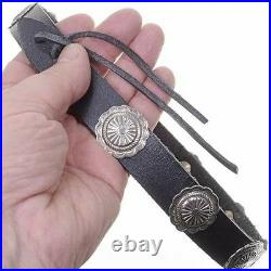 Sterling Silver Navajo Made Concho Hatband His Or Hers Accessory