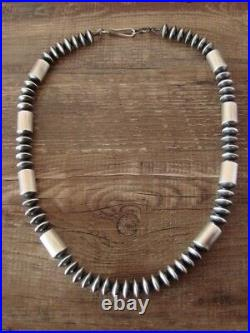 Sterling Silver Navajo Pearl Hand Made 19 Necklace Presley Haley
