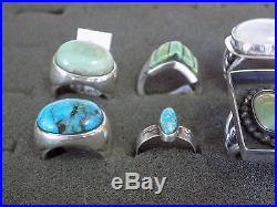 Sterling Silver Ring Lot of 12 Native made 159 gr. $ 1030 retail