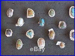 Sterling Silver Ring Lot of 25 Native-American made 162 gr. $1250 retail