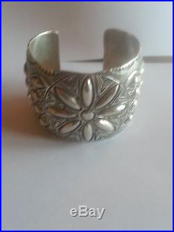 Sterling WB Native American-Made Cuff Bracelet