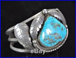 Stunning Sterling and Turquoise Woman's Bracelet Native American Made USA