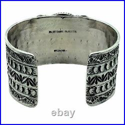 Sunshine Reeves, Bracelet, Kingman Turquoise, Arrow Stamps, Navajo Made, 6 3/4