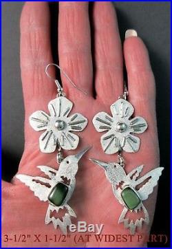 TAWNY CRUZArtistically MadeHummingbird/FlowerFox Turquoise925 Earrings