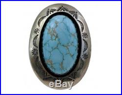 Teddy Goodluck, Ring, Number Eight Turquoise, Shadowbox, Silver, Navajo Made, 9