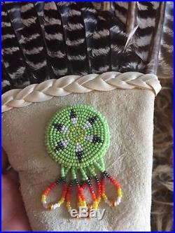 Turkey Wing Fan native american beadwork made for pow wow regalia dance fan