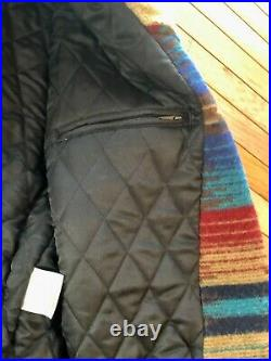 USA Made Size XL Woolrich Southwestern Blanket Coat Fully Lined Sherpa Collar