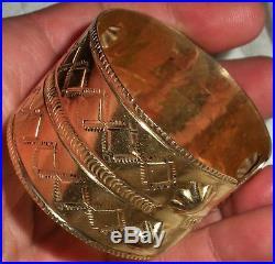 VINTAGE NAVAJO c1960-70s SOLID 14K GOLD BRACELET MADE FROM 1930S ORIGINAL vafo