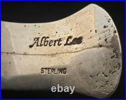 VINTAGE NAVAJO made by ALBERT LEE AUTHENTIC 97g STERLING SILVER MANS BRACELET