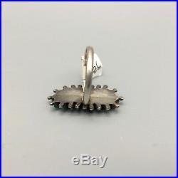 VINTAGE, ZUNI MADE! Needlepoint Turquoise Ring Size 7