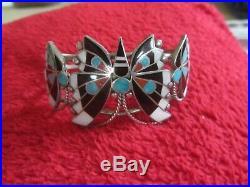 VINTAGE- Zuni inlay Hand made -butterfly bracelet bracelet