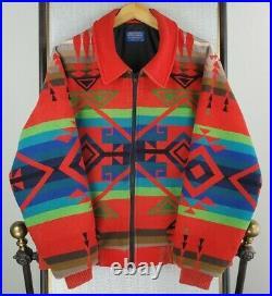 VTG PENDLETON Size Large High Grade Western Aztec Wool USA Made Mens Jacket