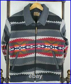 VTG PENDLETON Size Small High Grade Western Aztec Wool USA Made Mens Jacket