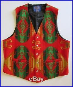 VTG Pendleton High Grade Western Southwestern Native American Vest Made USA L