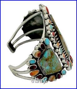 Vernon, Clarissa Hale, Bracelet, Cluster, Multi Stone, Silver, Navajo Made, 6.5