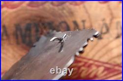 Vintage Artist Hand Made Sterling Silver Turquoise Western Belt Buckle